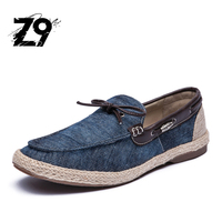 Top Jeans Boat Shoes Oxford Flats Fashion Moccassine Style Printed Denim Comfortable Summer Handmade Quality Designer