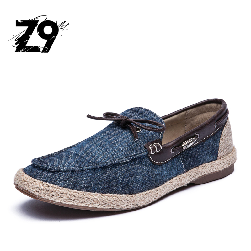 Top Jeans Boat Shoes Oxford Flats Fashion Moccasins Style Printed Denim Comfortable Summer