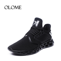 2018 New Fashion Summer Mesh Lace Up Shoes Men Spring Autumn Breathable Lightweight Sneakers Mans Black Red Grey Footwear Men