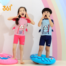 купить 361 Kids Swimwear Character Shark Swimsuit for Boys Girls Two Pieces Swimming Suit Children Bathing Suit Short Sleeve Tankini дешево