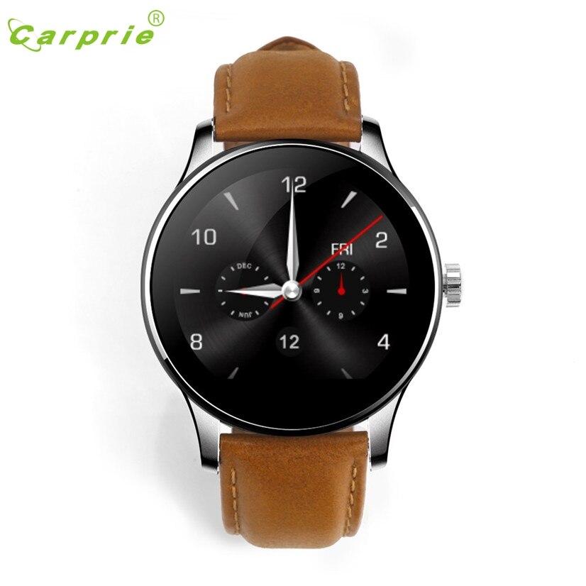 CARPRIE K88H MTK2502C Bluetooth montre intelligente fréquence cardiaque montre-bracelet en cuir 160826 livraison directe