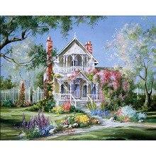 Romatic casa diy pintura sin marco paisaje by números pintados a mano de pintura al óleo inicio wall art imagen for living room 40×50 cm