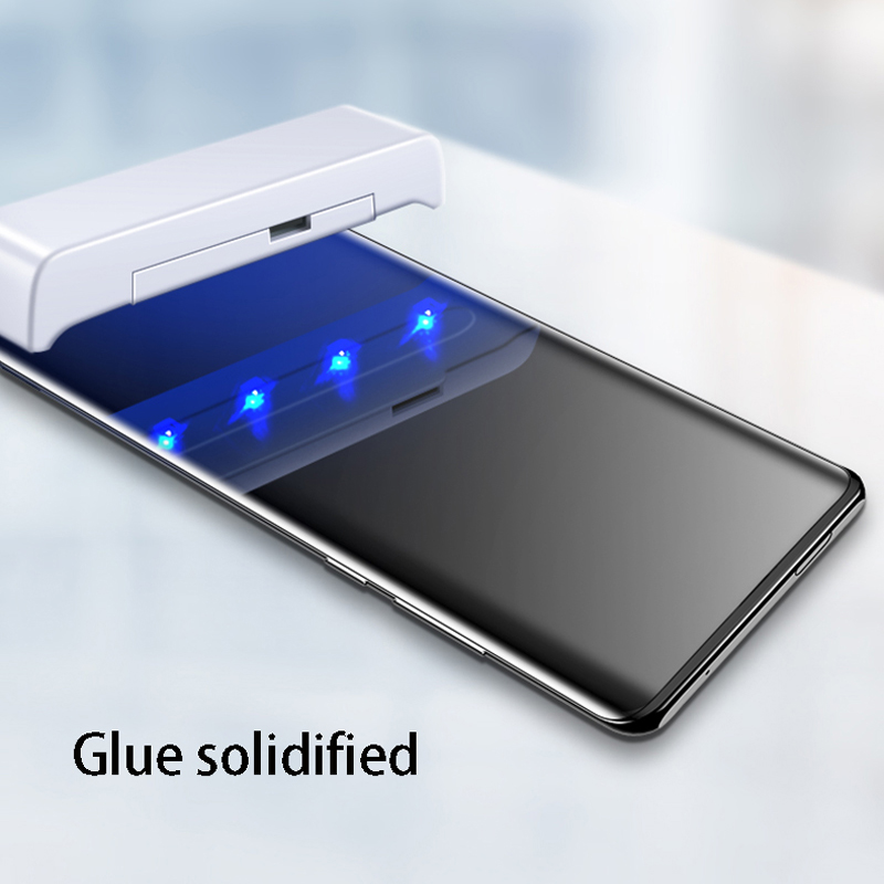 Image 3 - UV Full Glue Tempered Glass For OnePlus 7 Pro Screen Protector Curved Glass For OnePlus7 Pro Full Tempered Glass For Oneplus7Pro-in Phone Screen Protectors from Cellphones & Telecommunications