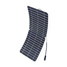 Xinpuguang 10 Вт 12 В солнечная панель полугибкая прозрачная монокристаллическая Кремниевая ячейка модуль DIY Kit 12 в солнечное зарядное устройство батарея