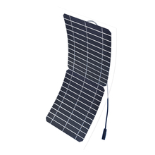 Xinpuguang 10W 12V Solar Panel Semi Flexible Transparent Monocrystalline Silicon Cell Module DIY Kit 12V Solar Charger Battery