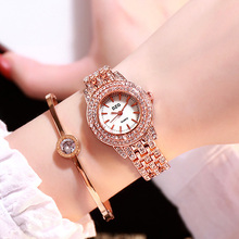 Luxury Women Bracelet Watches Rose Gold Stainless Steel Quartz Clock Fashion Small Ladies Crystal Rhinestone Watch reloj mujer