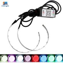 YM E Bright 1Set 360 Evil Eyes Devil Eyes LED RGB Headlights DRL 12V DC For 2.5INCH 3INCH BI Xenon Projector Lens APP Control