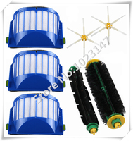 Hot Side Brush AeroVac Filter Bristle And Flexible Beater Brush Combo For IRobot Roomba 600 610