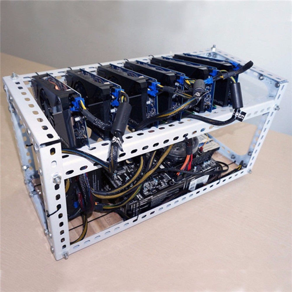 Computer Bergbau Bergmann Rahmen DIY Stapelbar Rig Bitcoin BTC Ruhm ...