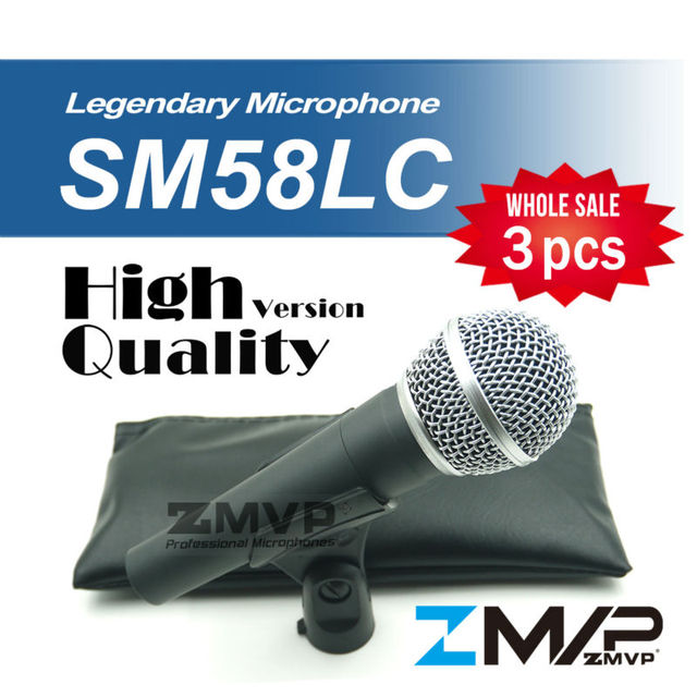 Free Shipping! 3pcs/lots High Quality Version SM 58 58LC SM58LC Wired Vocal Karaoke Handheld Dynamic Microphone Microfone Mic