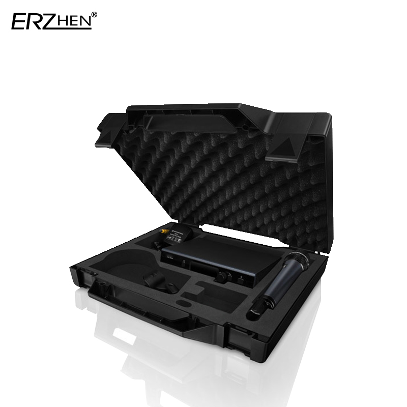 Professional Wireless Microphone UHF D 1 Wireless System with Handheld Transmitter Waist Headband Collar in Microphones from Consumer Electronics