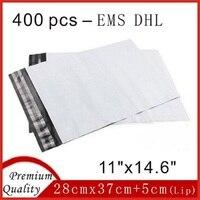 400 قطع 28 سنتيمتر x 37 سنتيمتر الساخن الأبيض البولي مغلفات بلاستيكية مجانا حقائب النفس ختم الطوابع البريدية sobres 11