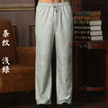 New Arrival Chinese Men's Kung Fu Trousers Cotton Linen Kung Fu Pant Tai Chi Pants Wu Shu  Pants Size M L XL XXL XXXL W30