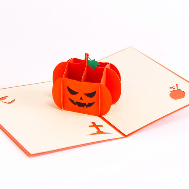 3d laser cut handmade angry pumpkin paper invitation greeting card 3d laser cut handmade angry pumpkin paper invitation greeting card with envelope trick or treat halloween m4hsunfo