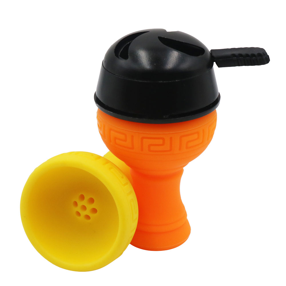 SY 1pc Silicone Shisha Hookah Bowl Handle Kaloud Charcoal Holder Hookah Head Narguile Tobacco Bowl Accessories Gadget in Shisha Pipes Accessories from Home Garden