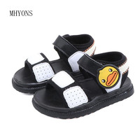 MHYONS 2019 summer new casual children's shoes baby boy small yellow duck summer beach sandals soft bottom baby toddler shoes