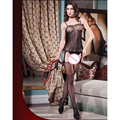 2016 New Arrival Sexy Lingerie Nightwear Crotchless Body stocking Suspender Bodysuit Fishnet Sheer Body Dress Underwear