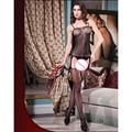 2016 Nueva Llegada Sexy Lingerie Ropa de Dormir Crotchless bodystocking Liga Body Mallas Body Transparente Vestido de la Ropa Interior