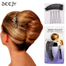 SCCJY Hair Donut Bun Maker Magic Hair Styling Tools Princess Hairstyle French Twist Barrettes Hair Accessories Y5R5