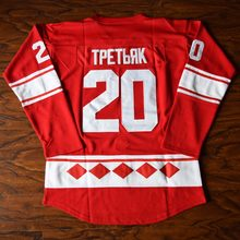 MM MASMIG Vladyslav Tretiak  20 CCCP Russian Ice Hockey Jersey Stitched Red 1d98bf451