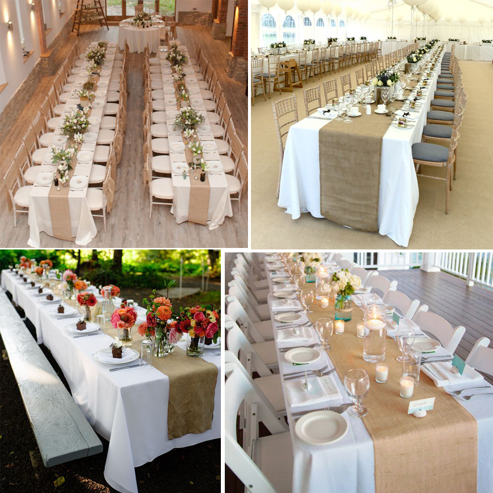 Merveilleux Aliexpress.com : Buy Wedding Party Decor 10 Meters X 33cm(394 Inch X 13  Inch) Vintage Country Jute Hessian Burlap 33FT Long Table Runner For Rustic  From ...
