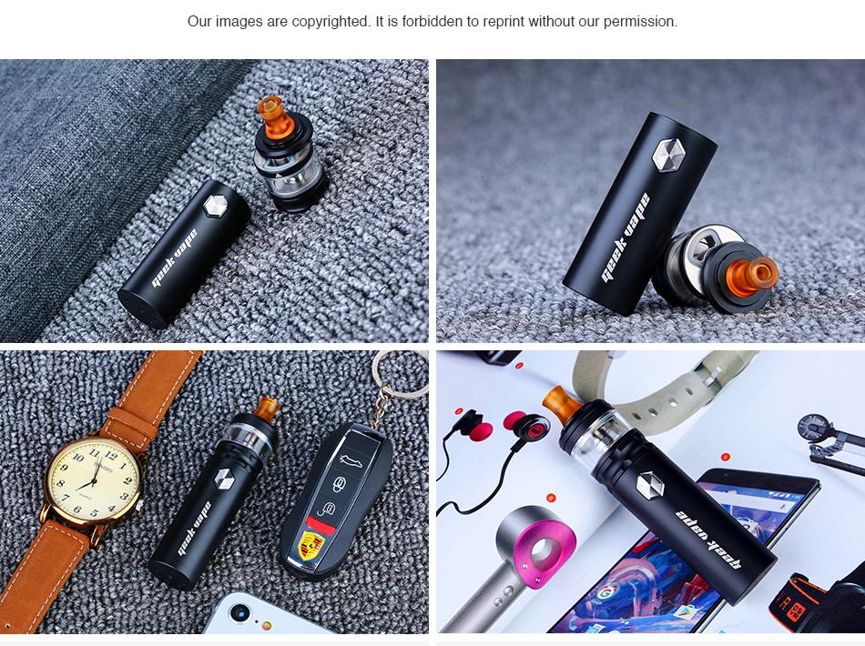, Original Geekvape Flint Kit with 1000mah Battery LED Indicator Electronic Cigarette Vape Pen MTL Vaping Vaporizer with NS Coil