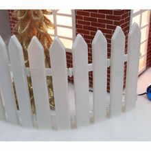 5pcs/set 30cm*12cm Plastic Garden Fence Home Decor Gardening Fashion Ornament Christmas Tree Decorative Fence Xmas Decoration 25(China)
