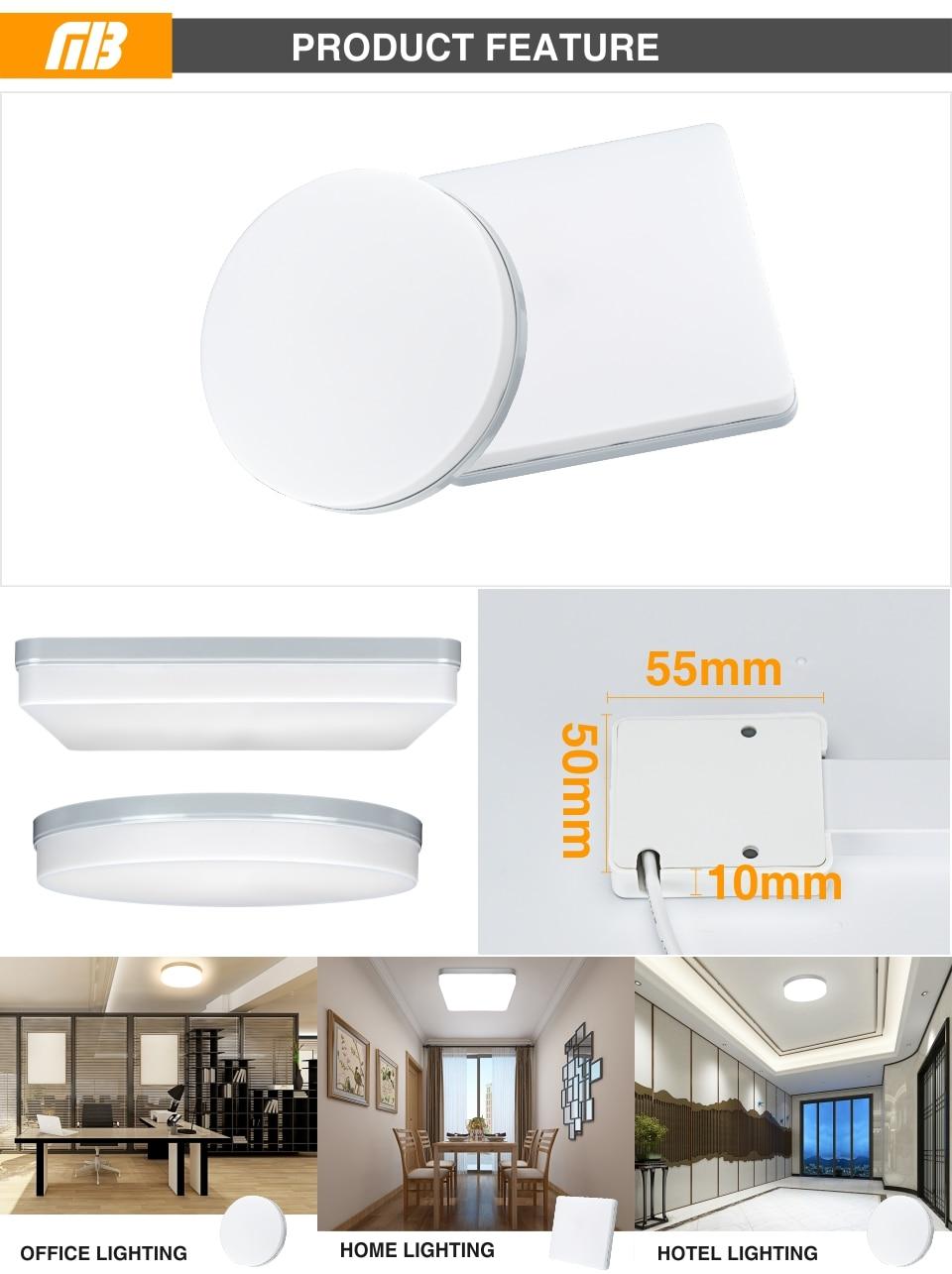 Ultra Thin LED Ceiling Lamp LED Modern Panel Light 48W 36W 24W 18W 9W 6W 85-265V Bedroom Kitchen Surface Mount Flush Panel Light