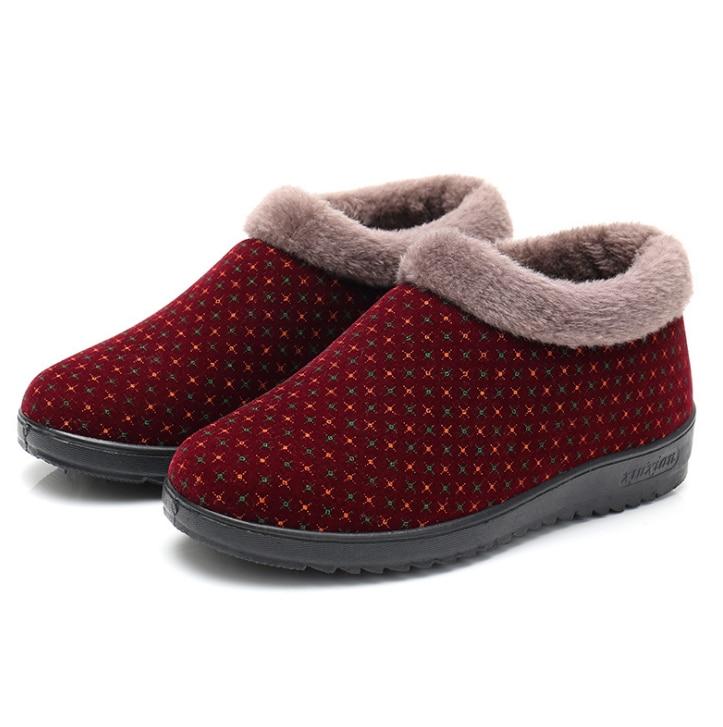 HUANQIU 2018 Yeni kadın Kış Ayakkabı rahat pamuk çizmeler kadın kaymaz sıcak eski bayanlar pamuklu ayakkabılar toptan ZLL488