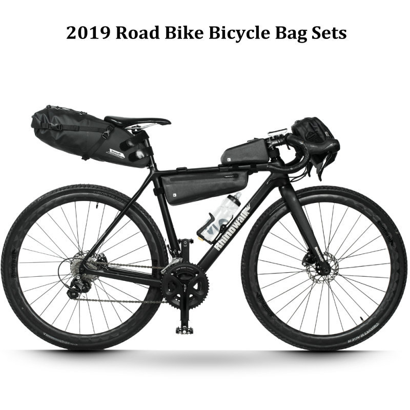 Rhinowalk 4pc/set Road Bike Long Distance Cycling Bag Sets Waterproof Large Capacity For Bicycle Saddle Handlebar Frame Tube Bag