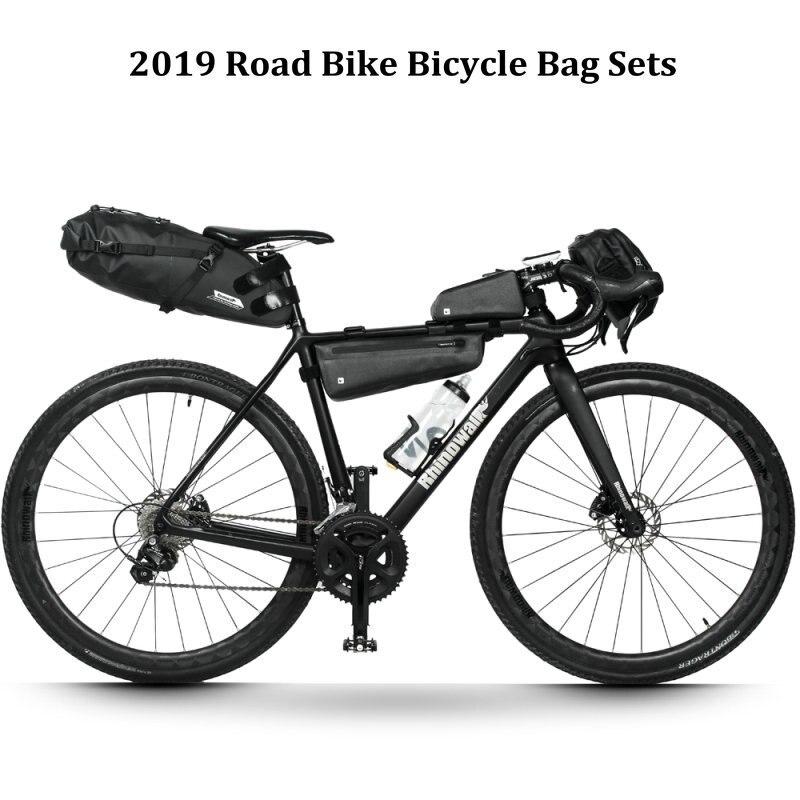 Rhinowalk 4 pièce/ensemble sac de cyclisme ensembles étanche pour vélo selle guidon cadre Tube sac vélo de route longue Distance grande capacité