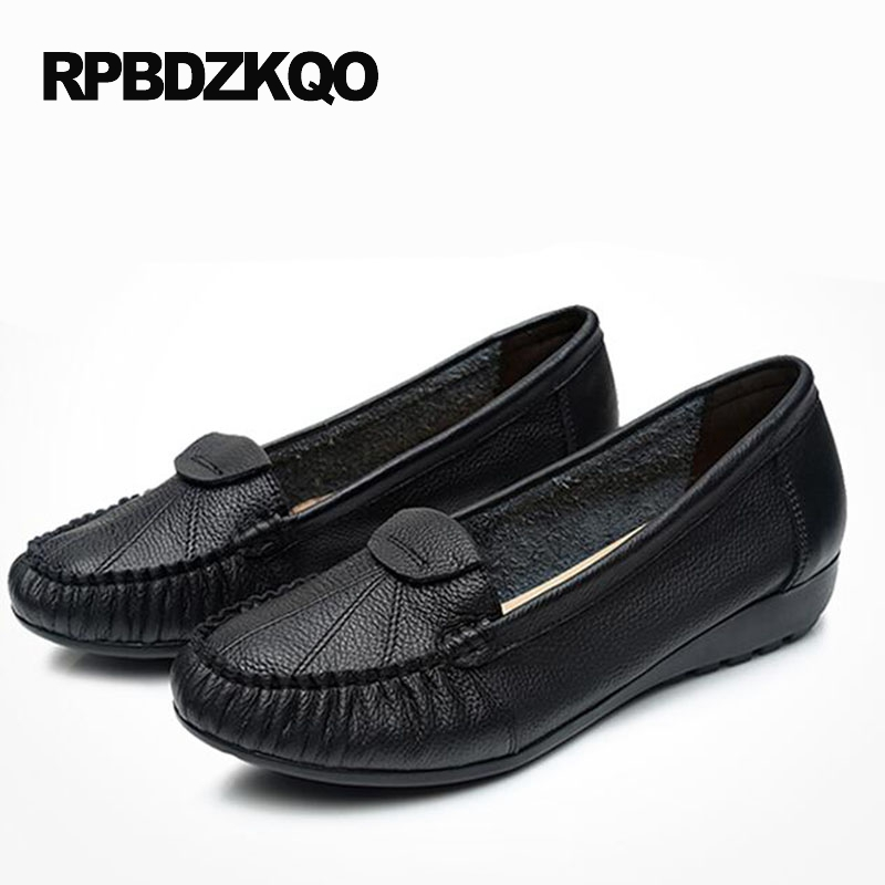 Size 43 34 Cheap Shoes China Moccasins Size 9 2017 Slip On 10 Black Large Flats Elderly Latest Beautiful Drop Shipping Spring