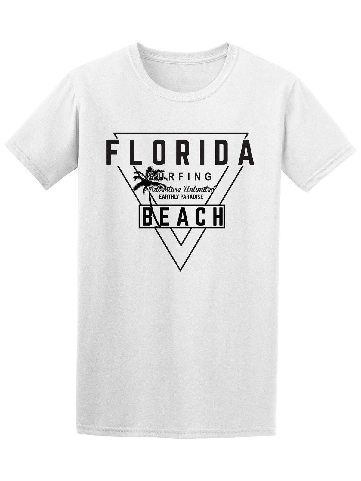 Florida Surfinger Beach Surfer Design Tee Tops Tees Printed Men T
