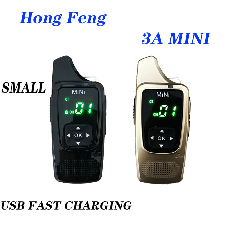 HONGFENG 3A MINI  Walkie Talkie VOX Voice Control UHF 400-520MHz 99CH Ultra-small Walkie Talkie Radio Transceiver With Earpiece