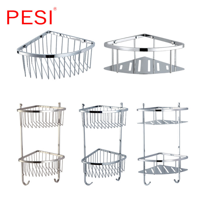 Shower Caddy Corner Shower Basket Stainless Steel Bathroom Shelves ...