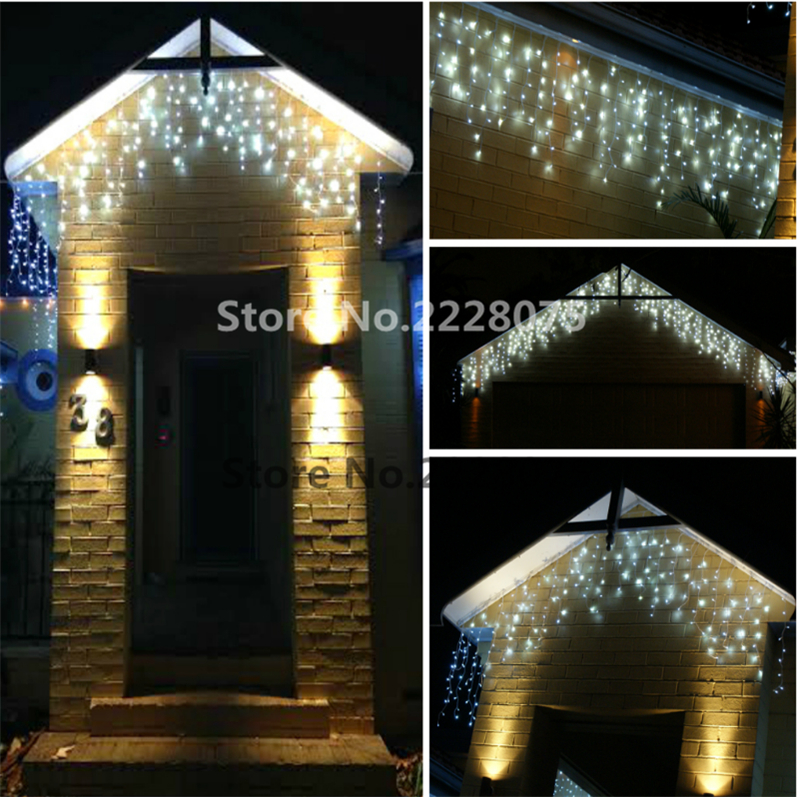 Connectable 5m 216led Led Curtain Icicle String Lights Christmas