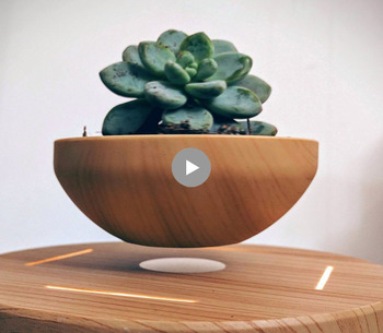Pot de fleur LED Lévitation Air Bonsaï Pot-Magnétique Lévitation Suspension Fleur Flottant Pot Plante En Pot pour La Maison Bureau Décor