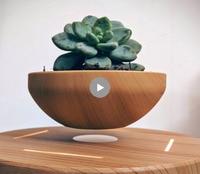 LED Levitating Air Bonsai Pot Magnetic Levitation Suspension Flower Floating Pot Potted Plant for Home Office Decor