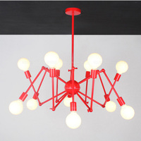 Red Black Spider Bar Coffee Shop Restaurant Chandeliers Modern Dining Clothing Store Chinese Style Kitchen Dining