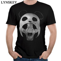Free Shipping Dead Panda Skull T Shirt 2017 Men S Summer Popular Short Sleeve Crew Neck