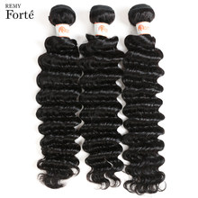 Remy Forte Deep Wave Brazilian Hair Weave Bundels Deal Human Hair Extension Leveranciers 30 Inch 100% Menselijk Haar Enkele Bundels hele(China)