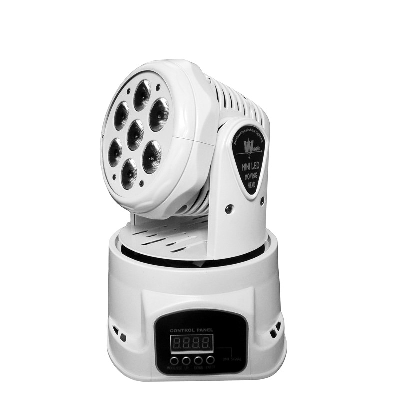 White LED 7X12W RGBW 4in1 Moving Head Stage Light DMX Wash Stage Lighting Effect Fixture For Home Entertainment Bar Club new led beam 36 3w 4in1 rgbw cree moving head light 100v 240v professional stage dj bar home entertainment lighting effect
