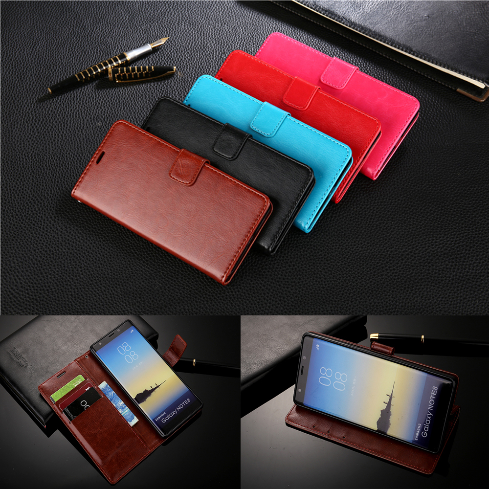 Prmiume Wallet Leather <font><b>Case</b></font> for Samsung Galaxy <font><b>Note</b></font> 2 3 4 5 8 <font><b>9</b></font> J2 Prime J3 J5 J7 C5 C8 C7 C9 Pro Grand Prime <font><b>Flip</b></font> Wallet Cover image