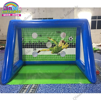 Beach toys for kids soccer target,inflatable football goal target, soccer training equipment made in china