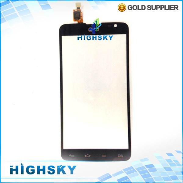1 piece free shipping 100% original replacement part black touch screen glass with flex cable for LG G Pro Lite D685 D686