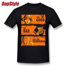 bf9f58bbd1 O Espadachim Luffy Roronoa Zoro One Piece T-shirt Para Homens Plus Size  Camisa de Algodão T Da Equipe 4XL 5XL 6XL Camiseta