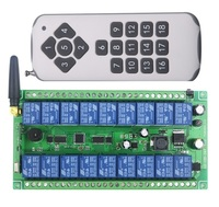 DC12V 24V Wide Voltage 18 CH 18CH RF Wireless Remote Control Switch System Transmitter Receiver 315