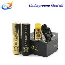 Subterránea Kit vape mod mecánica enorme vapor cigarrillo electrónico mod con RDA Cigarrillo electrónico 2 Colores encaja 18650