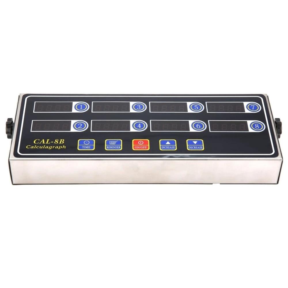 CAL-8B 8 Channel Digital Timer Kitchen Timing LCD Clock Shaking Reminder+/%