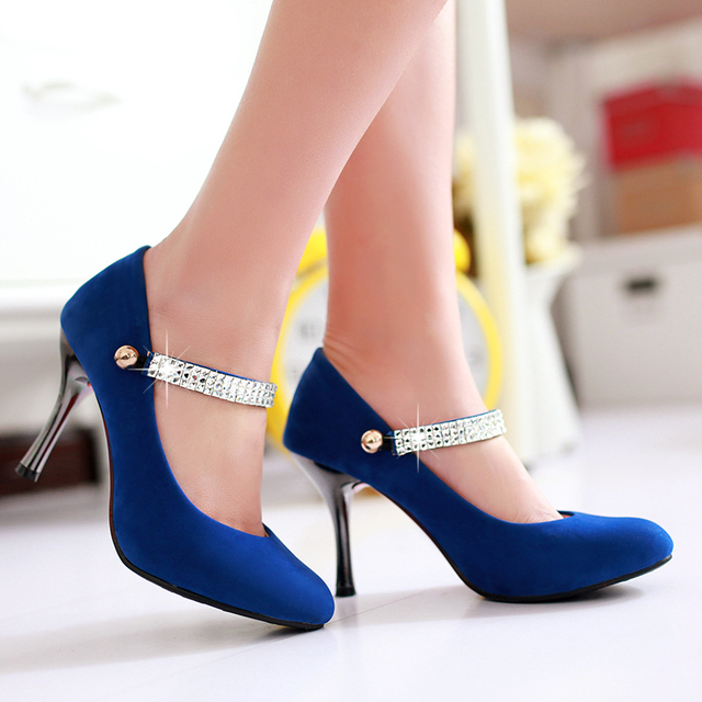 Sexy shoes women pumps pointed toe mary jane shoes red bottoms womens shoes  spring 2015 for - Sexy Shoes Women Pumps Pointed Toe Mary Jane Shoes Red Bottoms
